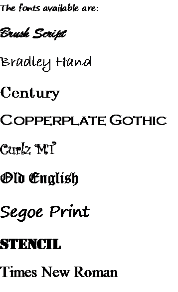 Font Examples
