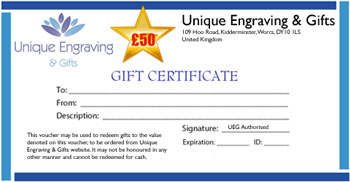 Gift Certificate £ 50.00