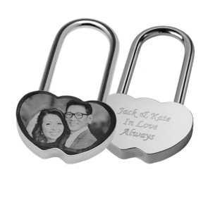 Unique Photo Engraved LockedInLove Padlock